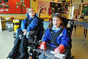 Best friends Dylan and Gemma from St Roses School to feature on popular CBeebies TV show